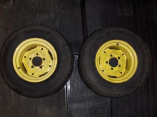 John Deere 300 Lawn Garden Tractor Rear Tires and Wheels X2