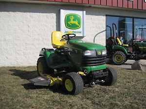 Used John Deere X485 Garden Tractor Riding Lawn Mower with Dozer Blade