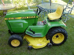 "John Deere 216 Riding Lawn Mower Garden Tractor 48"" Cut 16 HP Repainted Body"