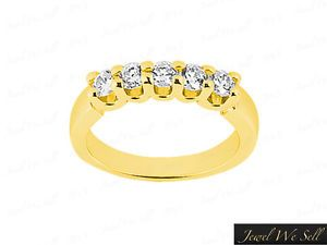 10K Yellow Gold Diamond Band Rings