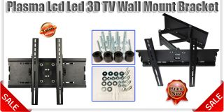 TV Wall Mount Bracket Tilt Swivel Plasma LCD LED 3D Fits 23 32 40 48 50 60 Inch