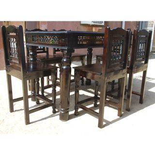7 PC Pub Counter Height Wood Kitchen Dining Room Table Chair Set for 6