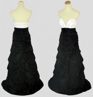Jump Apparel $200 Black Strapless Junior Prom Evening Formal Gown