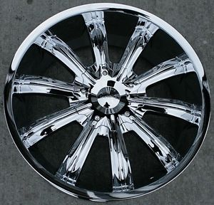 22 inch Incubu Chrome Wheels Rims Honda Accord CRV