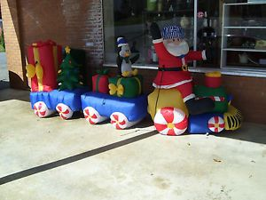 Gemmy Airblown Inflatable Train 11 ft Long