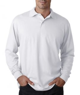 Mens Jerzees Long Sleeve L s Jersey Polo Shirt Small to 3XL Price Apparel