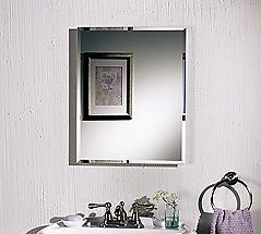 "Nutone Frameless Recessed Medicine Cabinet Mirror Single Door 16""w Bathroom"