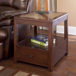 Ashley Maddox Rectangular End Table Brown Finish T543 3