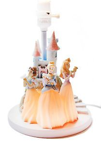 Disney Princess Castle Lamp Night Light Hampton Bay Snow White Cinderella Auro