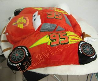 Cars Lightning McQueen Transforming Pet Car Sofa Pillow Cushion Soft Doll