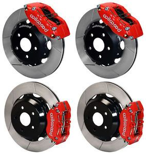 "Wilwood Disc Brake Kit Subaru Impreza WRX Forester Legacy Saab 9 2X 12"" Red"