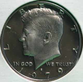 1979 s Proof Kennedy Half Dollar Coin 50 Cent JFK from US Mint Proof Set
