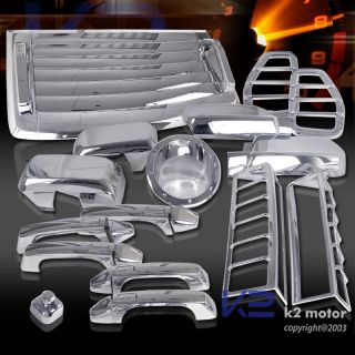 06 10 Hummer H3 Chrome Hood Vent Side Tail Lights Gas Door Handle Mirror Cover