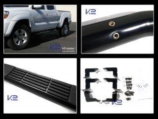 "05 12 Toyota Tacoma 3"" Double Cab Black s s Side Step Nerf Bar Running Boards"