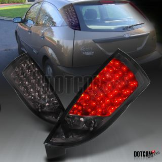 00 06 Ford Focus ZX3 ZX5 Hatchback Smoke LED Tail Lights