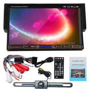 7 inch LCD Touch Screen One DIN Auto DVD Car CD Player Stereo USB SD Rear Camera
