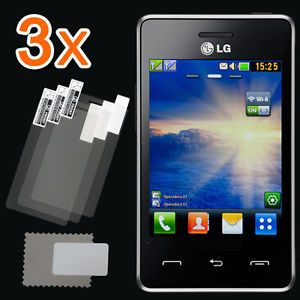 New 3X Clear LCD Screen Protector Guard Cover Film Shield for Tracfone LG 840G