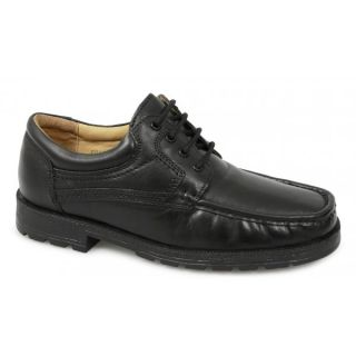 Roamers Mens Leather Padded Lace Up Apron Gibson Formal Office Work Shoes Black