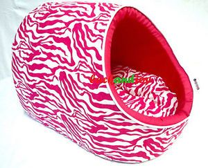 Pink Zebra Dog Beds House Mat Crate Pets Dog Cat Small