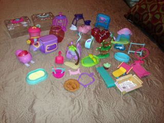★ Littlest Pet Shop LPS ★ Lot Accessories Carriers Sleds Trees Bird Cage