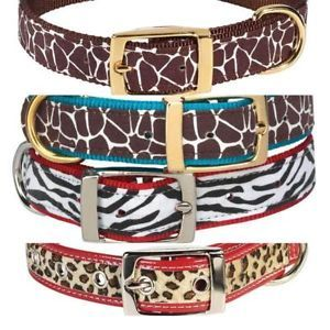 "14 18""Large Zack Zoey Animal Print Dog Collars L"