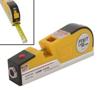 Fixit Tools Laser Level 8 ft Measuring Tape Horizontal Vertical Hands Free
