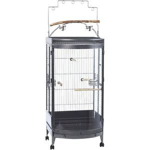 Super Pet EZ Care Bow Front Play Top Bird Cage 25x24 25x74""
