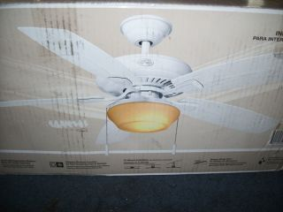 Hampton Bay Gazebo II 52 in Indoor Outdoor White Ceiling Fan