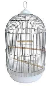Sale 16DX29H Round Bird Cage White Cockatiel Lovebird Finch Canary 1584
