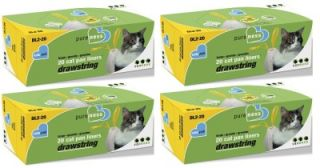 80 Count Van Ness Large Drawstring Cat Litter Pan Liners Fits CP2 CP4 CP6