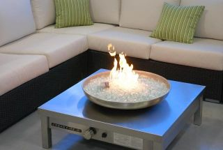New Urban Fire 2 Outdoor Stainless Steel Gas Fireplace
