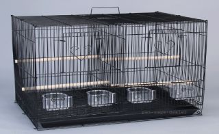 "Canary Parakeet Cockatiel Cages Bird Cage w Nest Door Divider 30x18x18""H"