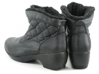 Womens Black Fur Boots 8