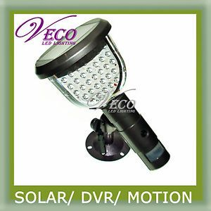 Outdoor LED Wall Lamp PIR Solar Security Camera DVR Light Motion Detection