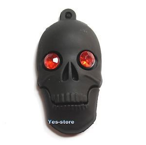 USB Flash Pen Drive 1MB 1GB 2GB 4GB 8GB 16GB 32G Memory Thumb Stick Rubber Skull