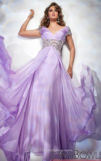 Purple Chiffon Beaded Cap Sleeve Evening Dress Formal Party Clothing Prom Gown
