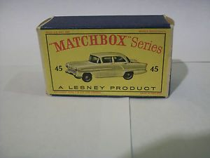 Matchbox A Lesney Product Number 45 Vauxhall Victor Yellow