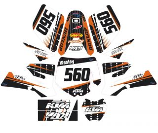 KTM SX 50 XC Graphic Kit Custom Front Plate Sticker Template Decal 02 08