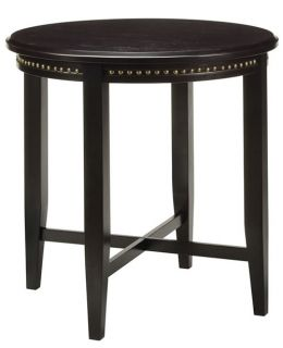 Espresso Finish Wood 28h Pub Bistro Table with Nail Head Accents TUC121ES