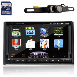 HD 3D Pip Car Stereo DVD Player GPS Navigation iPod Bluetooth TV Backup Camera