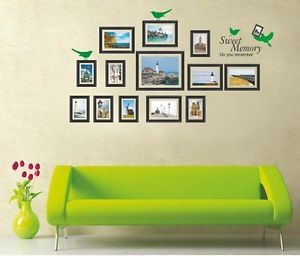 Big Photo Frame Wall Decal Wall Picture Frame Sticker Decor Vinyl Mural Design