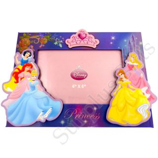 Disney Princess Snow White Ariel Cinderella Aurora Belle Photo Frame