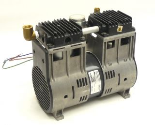 Thomas 2750TE48 40 455 G 115V 60Hz 5A WOB L Piston Vacuum Pump Air Compressor