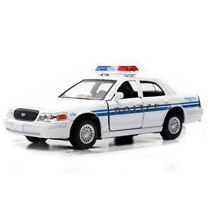 Ford Crown Victoria Police Interceptor 1 42 White Diecast Mini Cars Kinsmart S08