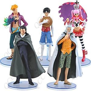 5 Pcs Set One Piece Action Figure Dolls Toys Model Set RARE Pirates Luffy