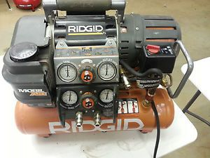 Ridgid Tri Stack 5 Gal Portable Electric Steel Air Compressor Retail 299 99