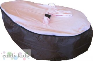 Baby Toddler Kids Portable Bean Bag Seat Brown Light Pink
