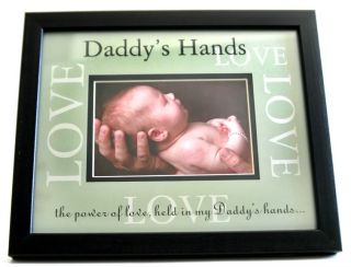 Fathers Day Picture Frame Daddys Hands Dad Photo Frames