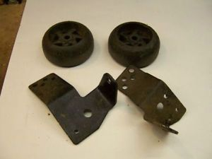 Craftsman Riding Lawn Mower Deck Leveling Wheels with Brackets Used