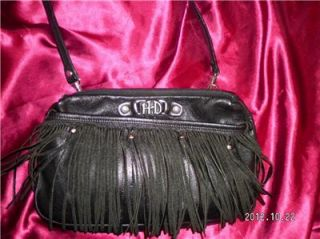 Harley Davidson Leather Fringe Shoulder Purse Belt Waist Bag Handbag Cross Body